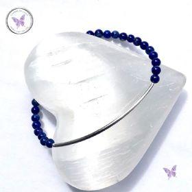 Lapis Lazuli Beaded Tube Bracelet